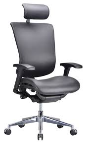Black Leather Office Chair Modrest Watson Modern Black Leather Office Chair Office Chairs