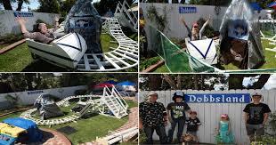 backyard theme park former boeing engineer builds dobbsland theme park in backyard for