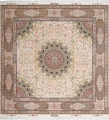 elaborate square vintage tabriz persian rug 51076 by nazmiyal