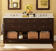 Bathrooms Vanities Pottery Barn Bathroom Vanities Espresso On Wood Look Floor