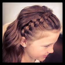 cute girl hairstyles how to french braid lace braid headband cute girls hairstyles m a n e pinterest