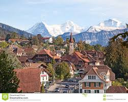 Swiss Alps Map Historical Village In Swiss Alps Stock Image Image 34542441