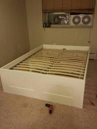 bed frames brimnes ikea bed instructions beds with secret