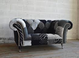 Tartan Chesterfield Sofa by Monochrome Walton Patchwork Chesterfield Snuggle Chair Abode Sofas