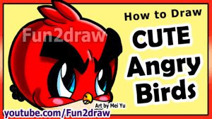 how to draw easy things angry birds game character art