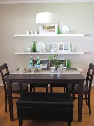 Dining Room Shelves Switch Up Your Dining Room Seating By Adding A Padded Leather
