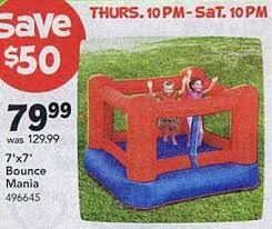 black friday bounce house black friday deal bounce mania 7x7 foot inflatable bounce house