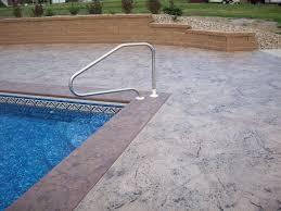 michiana concrete stamping pool decks