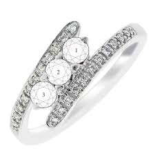 mothers rings white gold 3 bypass mothers ring in 14kt white gold with diamonds 1
