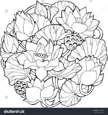 lotus flower ornament vector stock vector 394620661