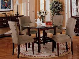 Circular Glass Dining Table And Chairs Dining Room Cool Round Glass Dining Room Sets Elegant Design 5