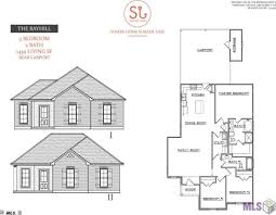 Carport Floor Plans Evangeline Trace Denham Springs La Dsld Homes Floor Plans Crtable