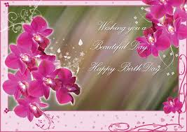 wishing you a beautiful day happy birthday greeting card