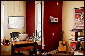 earth tones and imacs a cozy home office featured workspace