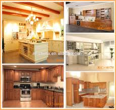factory wholesaler modern solid wood kitchen furniture designs