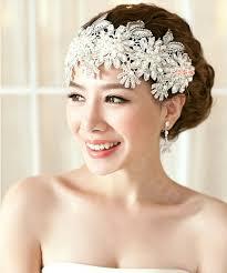 luxury hair accessories buy wholesale luxury pearl lace flower hairwear wedding