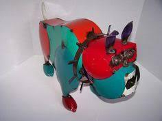 Sheet Metal Garden Art - tin bulldog sculpture sheet metal pinterest sheep and steel