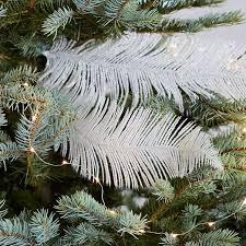 glitter feather tree picks set of 3 west elm