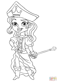 pirate princess coloring free printable coloring pages