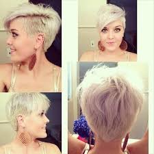 long hair sweeped side fringe shaved trendy platinum blonde shaggy haircut with long side swept bangs