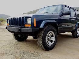jeep cherokee stinger bumper rcd suspension 10 05084 rcd front winch bumper in black powder