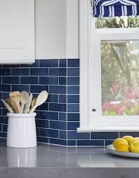 Remodelaholic  Great Kitchen Backsplash Ideas - Blue subway tile backsplash
