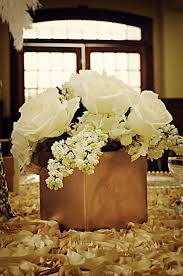 gold centerpieces gold and ivory wedding centerpieces