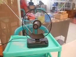 membuat antena tv tanpa kabel antena tv indoor dengan booster praktis jernih tinggal colok