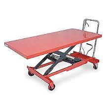 dayton scissor lift cart 1000 lb steel fixed 4zc18 4zc18 grainger