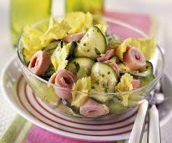 recette cuisine economique recette économique et rapide salade de jambon et courgettes