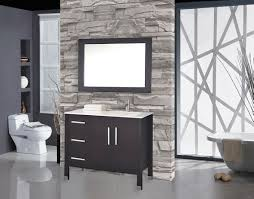 bathroom vanity with sink on right side mtd vanities monaco 40 single sink bathroom vanity set sink on