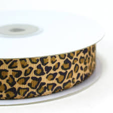 leopard ribbon maple craft small leopard print grosgrain ribbons 7 8 spool of
