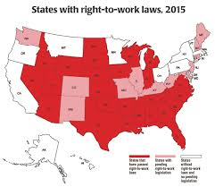 St Louis United States Map by Map Right To Work States In The U S Nassau Pba