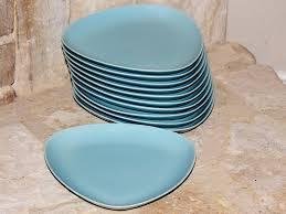hoganas keramik sweden mid century modern style boomerang plate