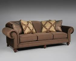 furniture home brown sleeper sofa with arm rest and nails accent