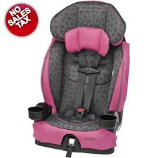 pink toddler car evenflo booster lx car seat hearts toddler child gray pink harness