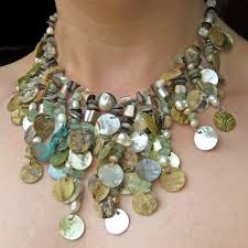 shell necklace making images Falling water shell necklace beadage jpg