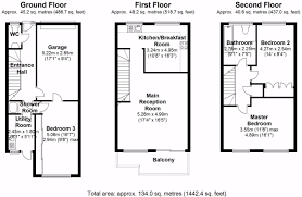 floor plan of the secret annex 3 bedroom terraced house for sale in madehurst close brighton