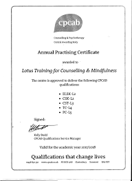 Cpcab Counselling Skills And Studies About Lotus Co Lotus