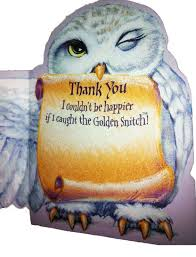 amazon com harry potter hedwig folding wing thank you card