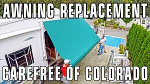 Awning Problems How To Replace Carefree Of Colorado Awning Fabric Manual Rv Awning