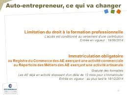 formation auto entrepreneur chambre de commerce l auto entrepreneur entreprendre avec la cci de bordeaux ppt