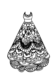 printable 36 in dress coloring page 7452 dress coloring