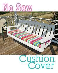 Garden Bench With Cushion Innovative Diy Outdoor Bench Cushion How To Make A No Sew Cushion