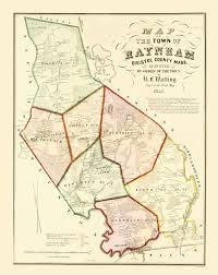 Ma Map Old City Map Raynham Massachusetts Walling 1855