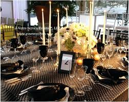 black and gold table centerpieces black white and gold wedding