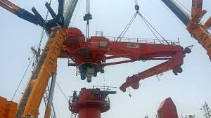 Pedestal Crane Ship Conversion Project Crane Installation U0027hos Ridgewind