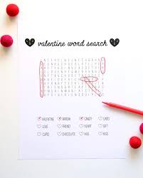 printable word search for valentine u0027s day handmade charlotte