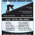 roofing business cards 333 best construction business card