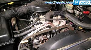 how to install replace serpentine fan belt dodge dakota durango 92